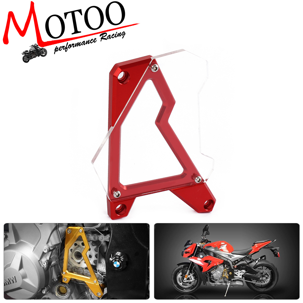 Motoo - CNC Motorcycle Accessories Left Engine Front Sprocket Chain Guard Protection Cover For BMW S1000R 14-15 S1000RR 10-16 motorcycle accessories 650tr left front fender