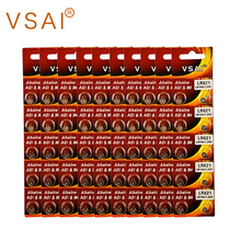 100pcs/lot VSAI AG1  Alkaline Coin Cell Batteries 1.5V 364 SR621 For Watch