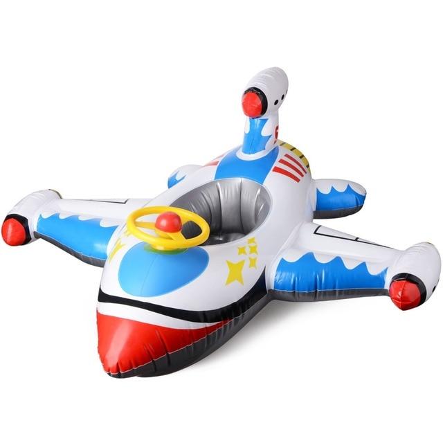 e86fa2636977 Los niños paseo en inflable gigante avión aviones Piscina balsa piscina  balsas de agua verano deportes juguete