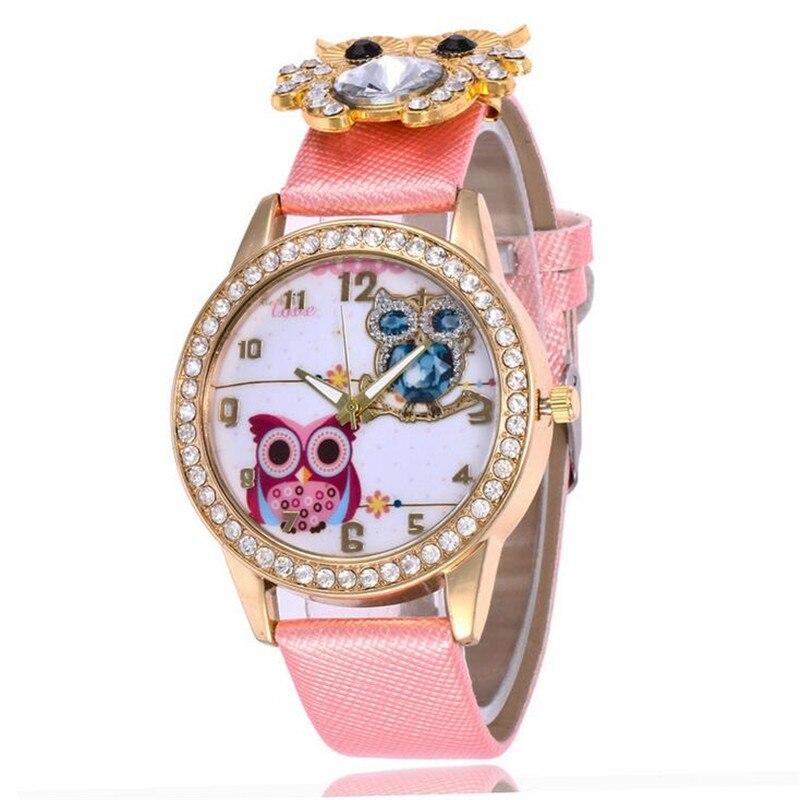 New Women's Watch Classic Owl Pattern Strap Owl Wrap Bracelet Watch 3