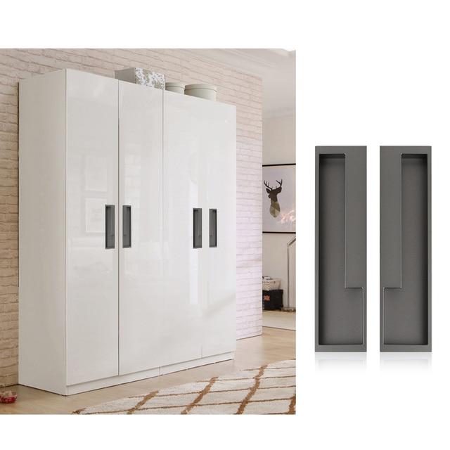 Hidden Cabinet Handle Pull Sliding Door Handle Slotted Drawer