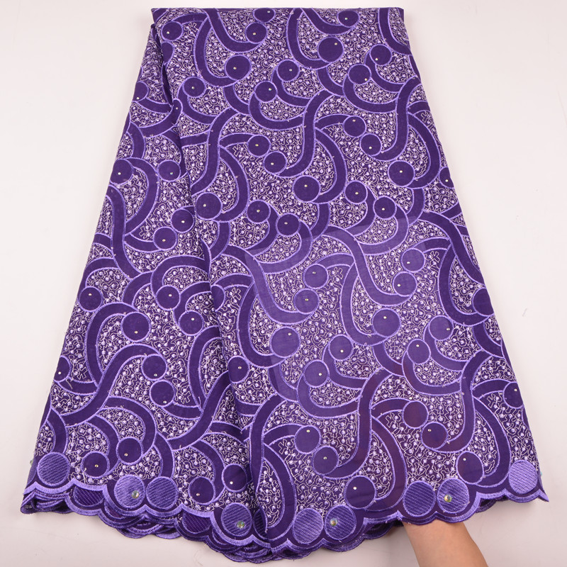 Nigeria Wedding Lace Dry Fabric Embroidery Cotton Lace Fabric Embroidery Voile Lace In Switzerland For Party Dress A1290