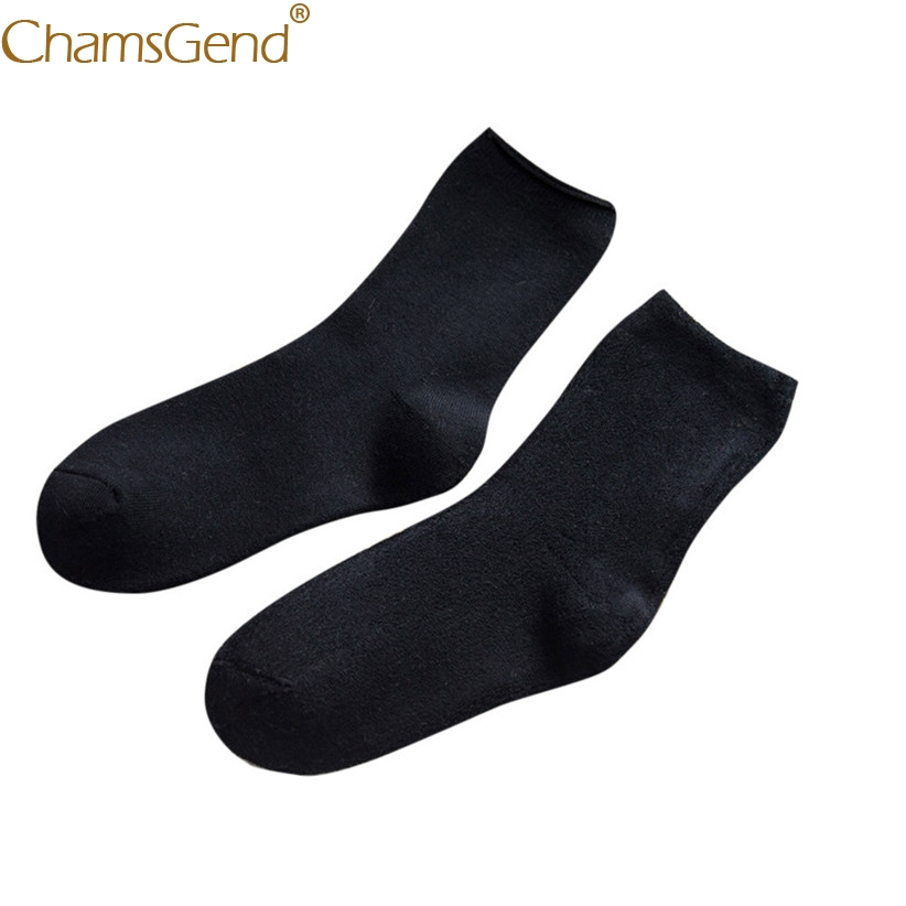 Chamsgend Socks Newly Design Women Girls Casual Solid Over Ankle Warm Cotton Boot Socks 80307