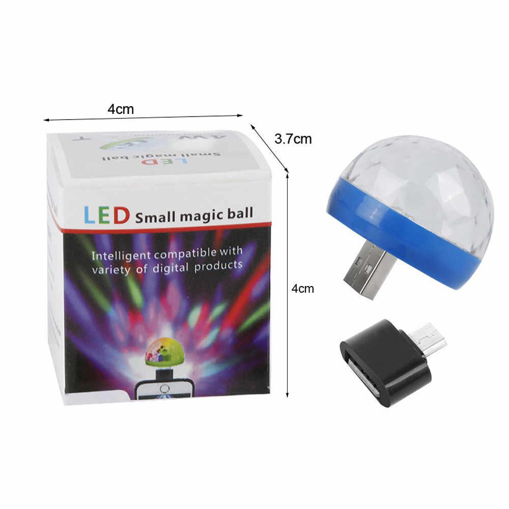 Mini USB LED fiesta luz música bola luces cambio de Color con música luz para escenario DJ Navidad Fiesta estroboscopio escenario lámpara