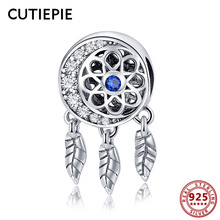 CUTIEPIE 100% Real 925 Sterling Silver Dream Moon Beads Charms Fit for DIY Chain Bracelets Pendant Necklace Wedding Jewelry Gift