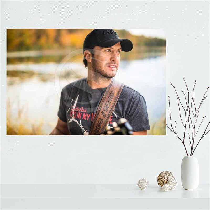 Custom Personalized Luke Bryan Silk Poster Wall Decor