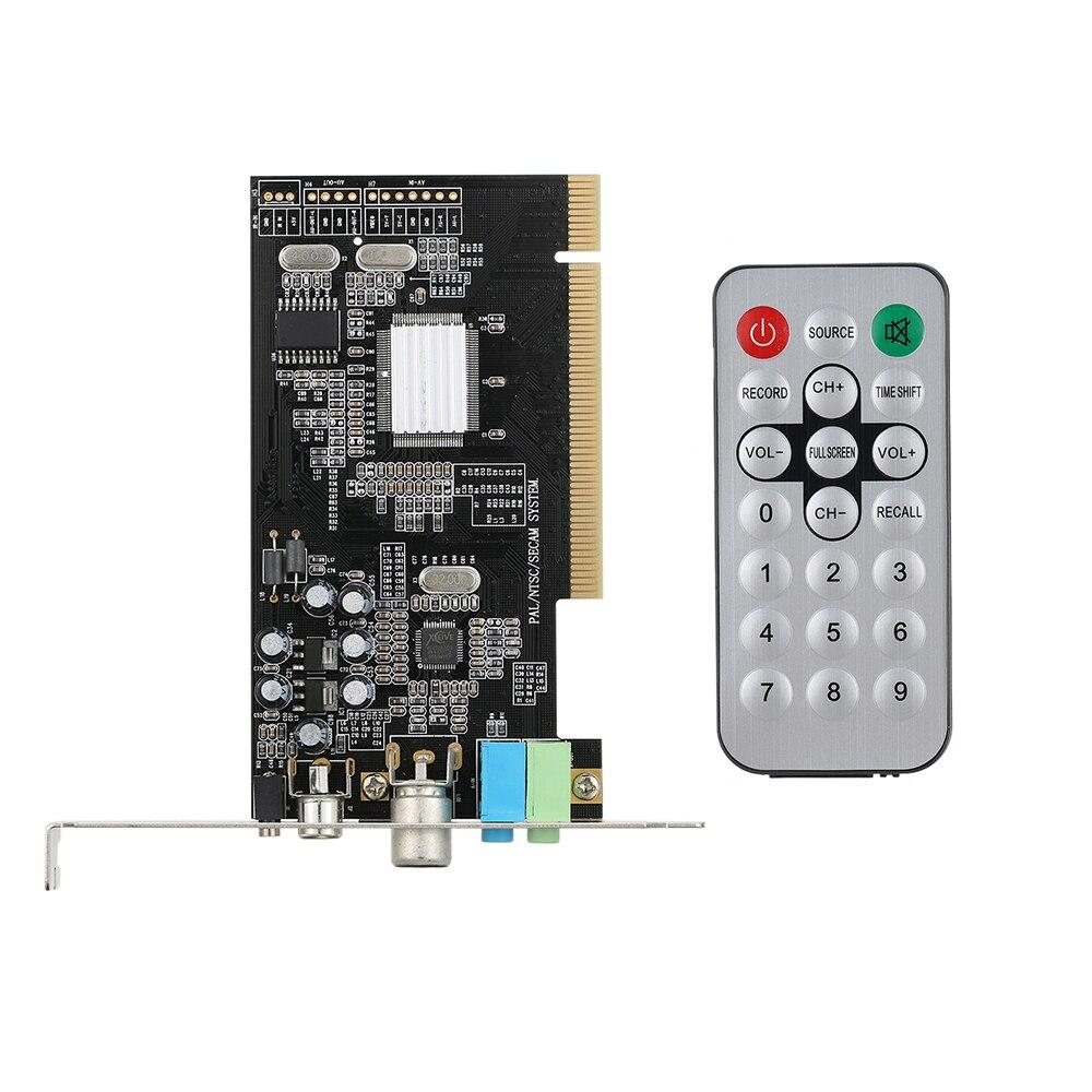 PCI Internal TV Tuner Card MPEG Video DVR Capture Recorder PAL BG PAL I NTSC SECAM PC PCI Multimedia Card Remote