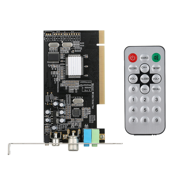 PCI Internal TV Tuner Card MPEG Video DVR Capture Recorder PAL BG PAL I NTSC SECAM PC PCI Multimedia Card Remote