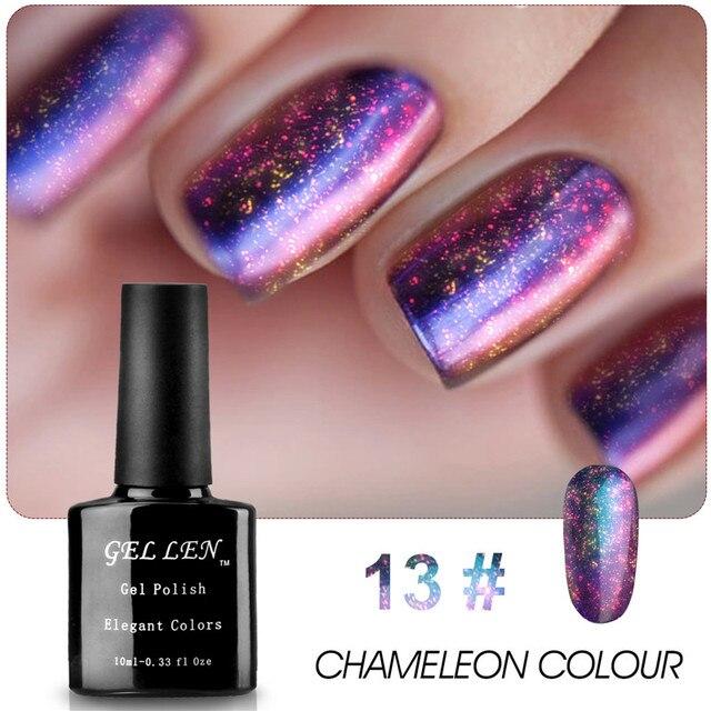 Gel Len 1pcs Chameleon Change Color Nail Gel Polish UV Soak Off LED Gel Varnish Long Lasting Gel DIY Nail Art