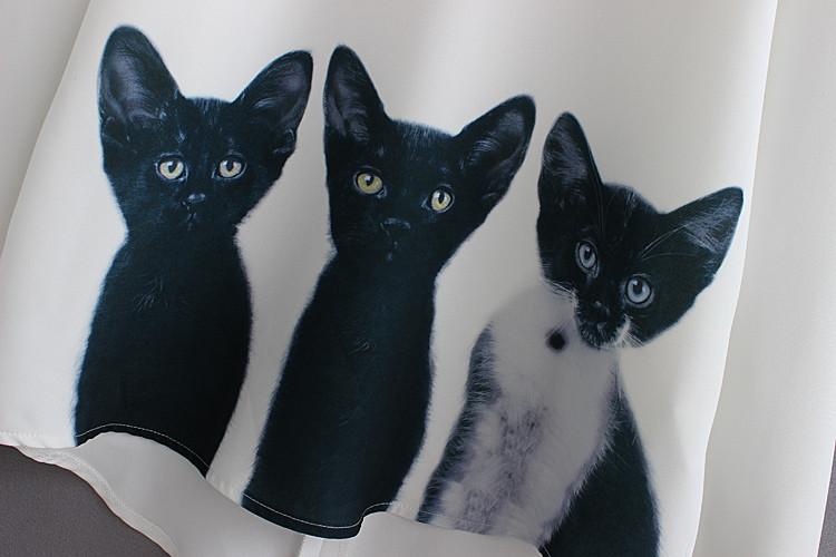 Black Cat Blouse