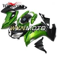 Complete Fairings For Kawasaki ER 6F 12 15 Ninja 650r 2012 2015 Year ABS Plastics Motorcycle Cover Bodywork Gloss Green Black