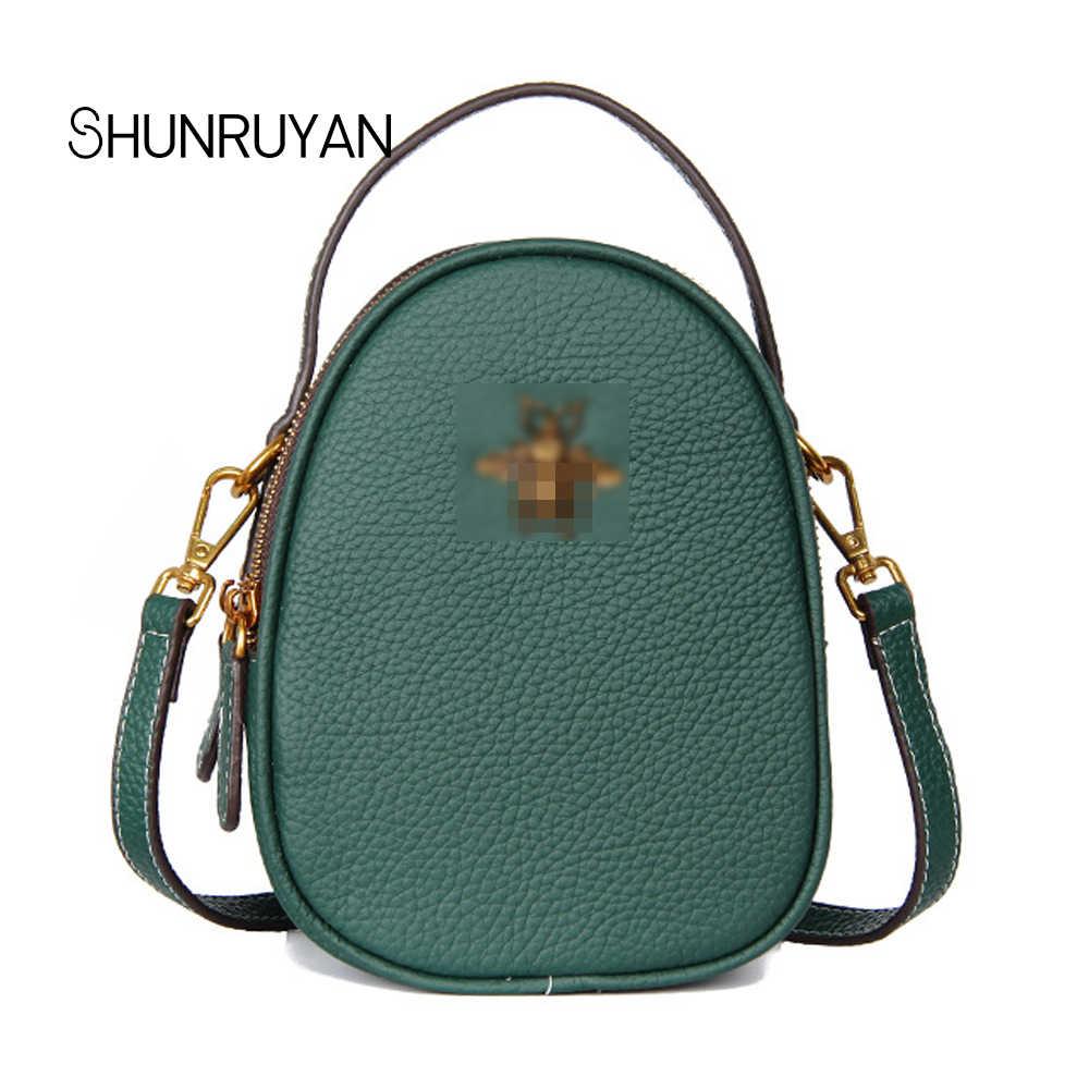 c0c46c9c971a SHUNRUYAN 2018 New Brand Design Fashion Genuine Leather Women Bag Large  Zipper Hangbags Shoulder Bag Cross