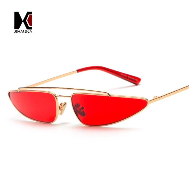 SHAUNA 2018 Beliebte INS Instant Online Prominente Frauen Kleine Katzenaugen-sonnenbrille Mode Damen Bonbonfarben Objektiv Shades UV400
