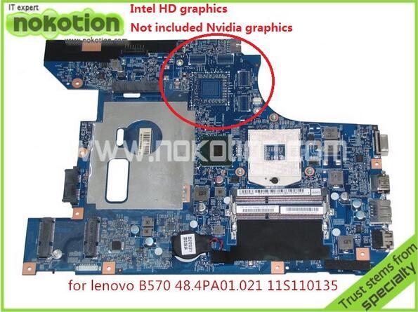 NOKOTION 48.4PA01.021 Laptop Motherboard for Lenovo B570 Z570 V570 HM65 DDR3 Mainboard Mother Boards full tested nokotion hot sale 603643 001 laptop motherboard for hp dv6 4000 hm55 fully tested mainboard mother boards da0lx6mb6f2