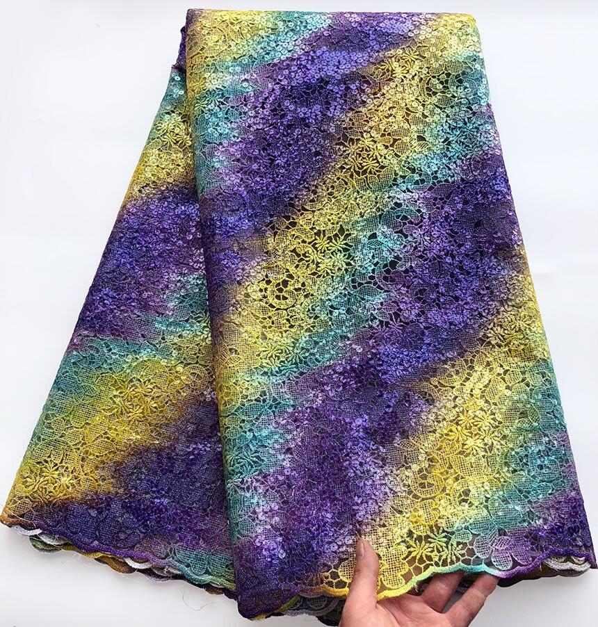 Upscale Veelkleurige franse kant Afrikaanse tule kant Nigeriaanse naaien stof met allover Pailletten 5 yards per stuk hot koop-in Kant van Huis & Tuin op  Groep 1