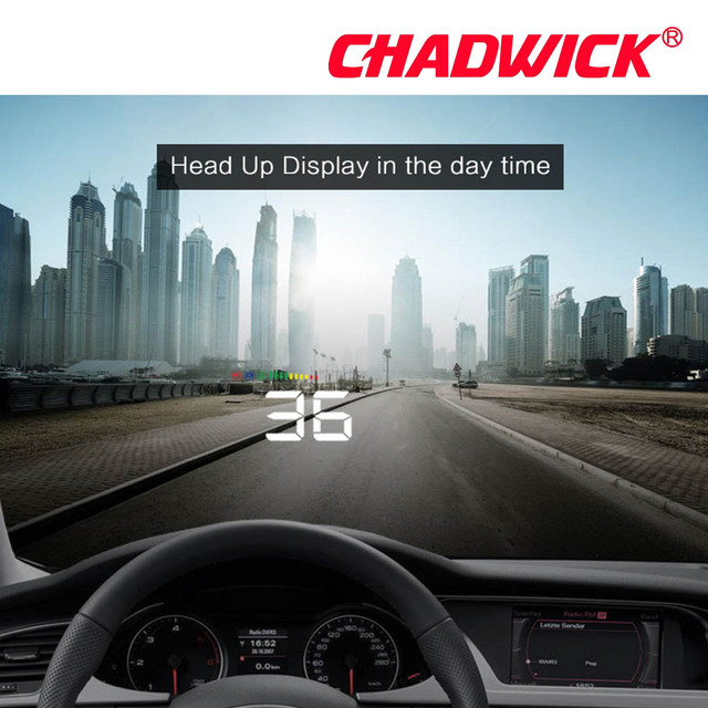 Fashion simple HUD Display Car Overspeed Alarm Water Temperature Alarm OBDII nterface Reflective Film Car styling CHADWICK A500