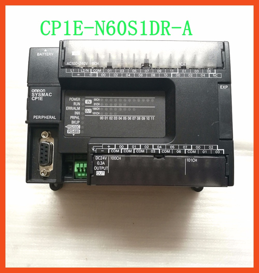 CP1E-N60S1DR-A Original New PLC CPU AC100-240V input 36 point relay output 24 point CP1E N60S1DR Motor controller new original cp1e e14sdr a plc cpu ac100 240v input 8 point relay output 6 point