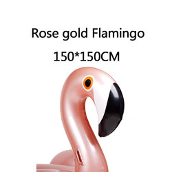 1.5M 60Inch Rose Gold Inflatable Flamingo Giant Pool Float Adult Pool Inflatable Toys Swimming Float Ring