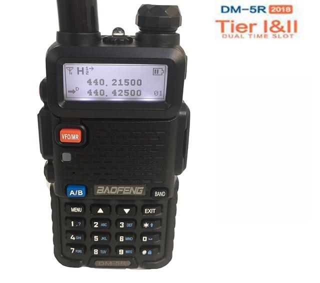US $62 98 18% OFF Cb Radio Ham Hf Transceiver DSP Upgraded Baofeng Dm 5r  Dmr Radio With Encryption for Motorola HYT Digital Walkie Talkie SMS 64-in