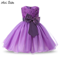 Aini Babe 1 Year Birthday Party Little Dress Baby Girl Christening Gowns Kids Event Party Wear