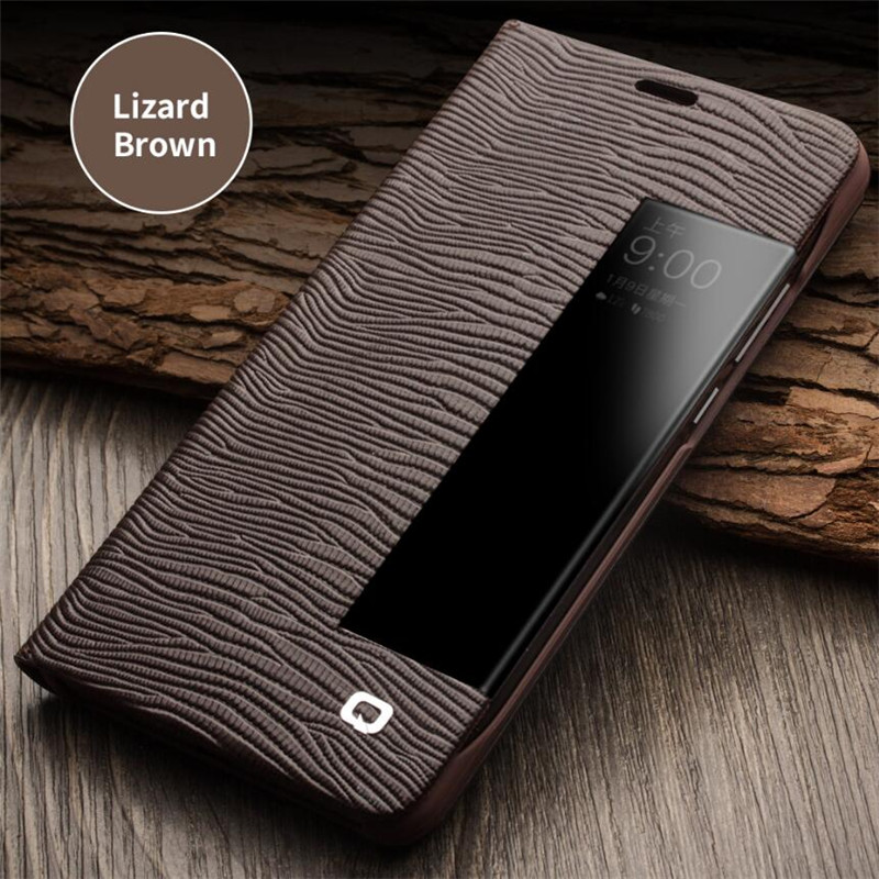 QIALINO Luxury Business Style Genuine Leather Case for Huawei Mate 10 Flip Cover for Huawei Mate10 <font><b>Sleep</b></font> Wake Smart Bag 5.9
