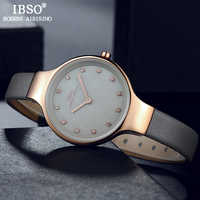 IBSO High Quality Women Wrist Watches Crystal Design Quartz Watch For Female Luxury Shell Dial Clock Relogio Feminino