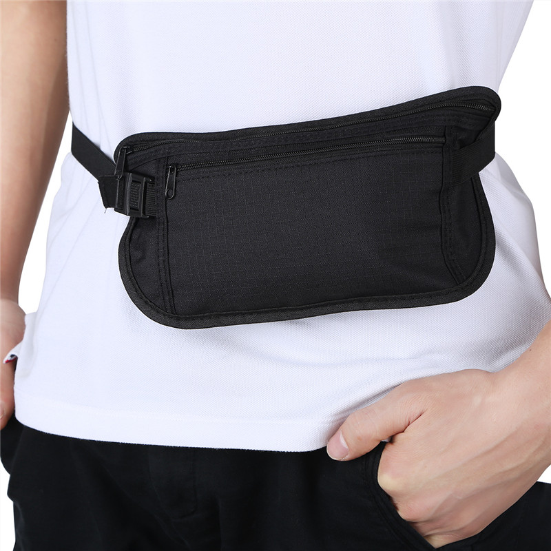 Fashion Waist Bag Unisex Fanny Pack Travel belt bag Money Belt Secure Hidden Travel Wallet Waist Bag Undercover Outdoor Sports