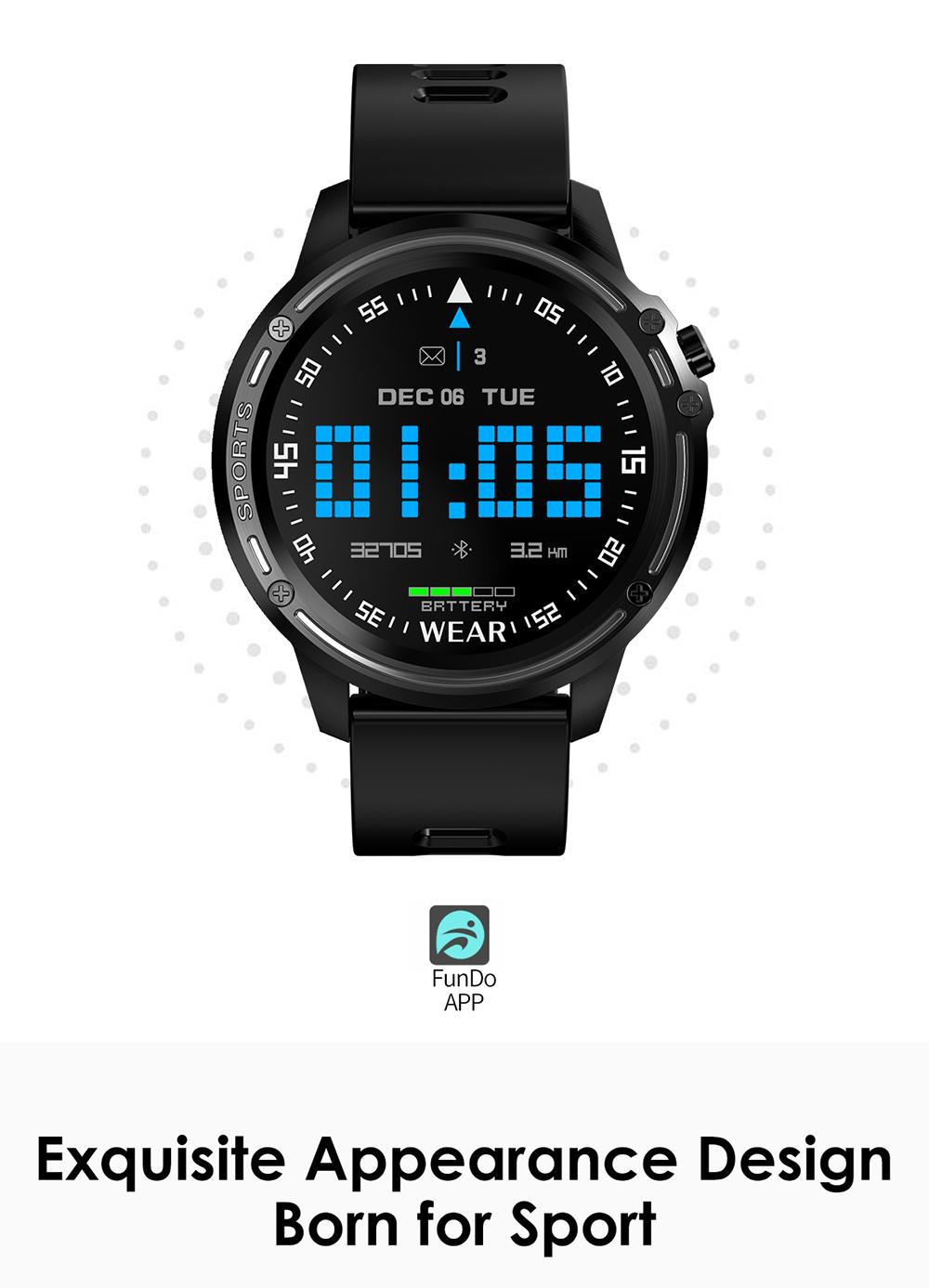 Reloj inteligente L8 IP68 para Hombre, Reloj inteligente resistente al agua con ECG presión arterial mediante PPG, relojes deportivos para fitness 2