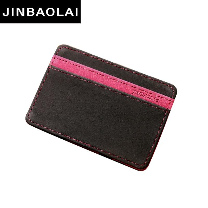 JINBAOLAI Slim Male Magic Wallet Scrub PU Leather Purse High Quality Carteira Magica Masculina Porte Monnaie Small Wallets 2017 oem 2015 carteira masculina couro qb1287