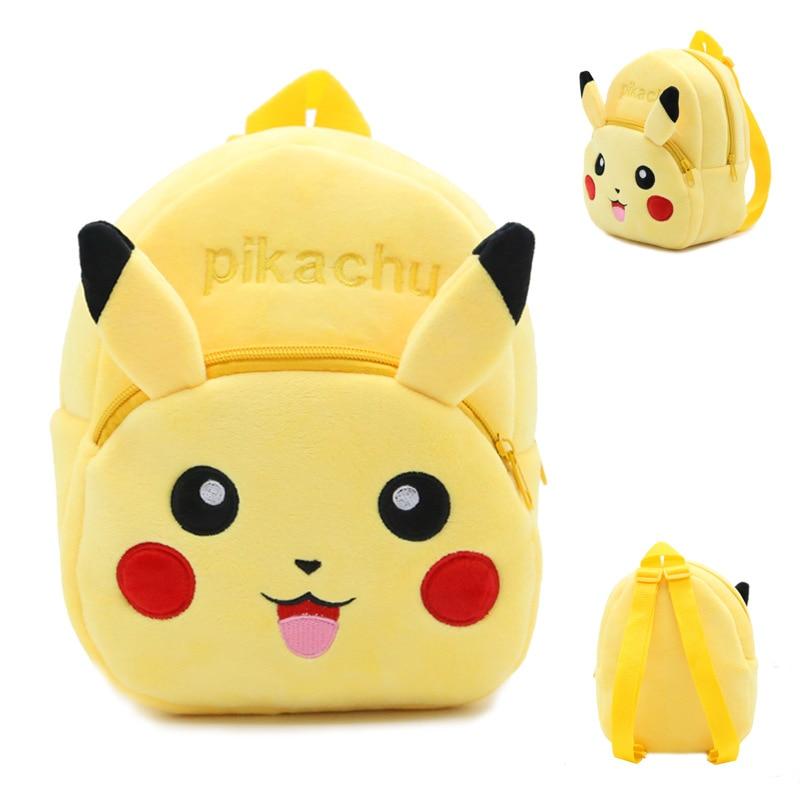Animals Cartoon Bags Kids Doll Plush Backpack Toy Children Shoulder Bag For Kindergarten Pikachu Pokemon Girls & Boys Backpacks