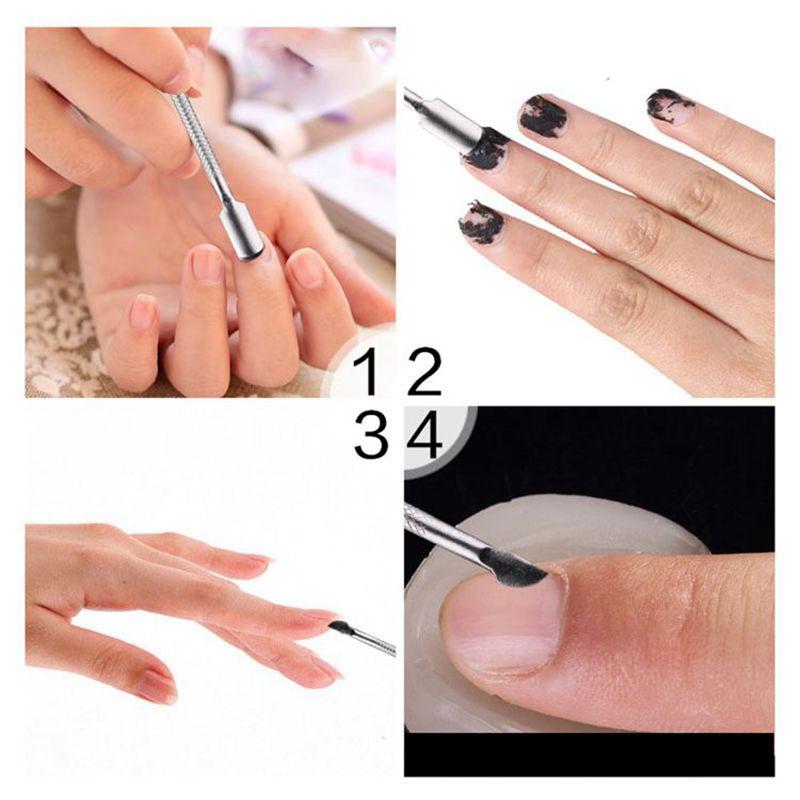 1Set Cuticle Pusher Nail File Cuticle Cutter Nail Brush Nail Art ...