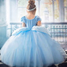 Girls Fancy Dress Years Elsa Children Role-Play Costume Princess Cinderella Ball Gown Party Christmas G034