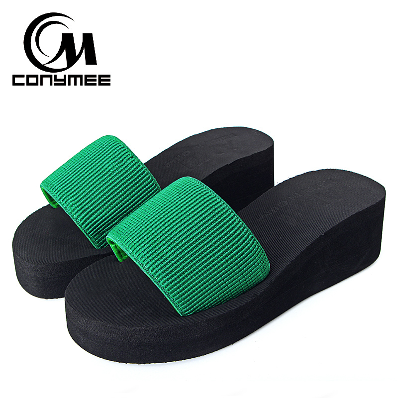 CONYMEE Summer Wedges Sandals Shoes Woman 2018 Fashion Platform Flip Flops Women Home Slippers Zapatos Mujer High Heel Sandalias summer shoes woman platform sandals women soft leather casual peep toe gladiator wedges women 7cm high heel shoes zapatos mujer