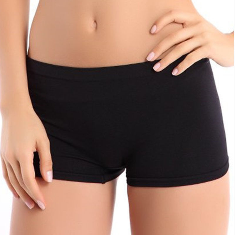 Women's Stretch Cotton Abdomen   Shorts   Multicolor Classic Lady's High Waist Body Shaping   Shorts