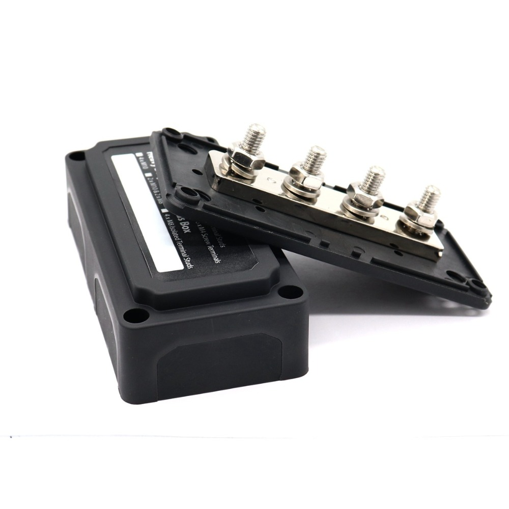 Heavy Duty Module Design Power Distribution Block Bus Bar Box with 4 Terminal Studs-in RV Parts & Accessories from Automobiles & Motorcycles