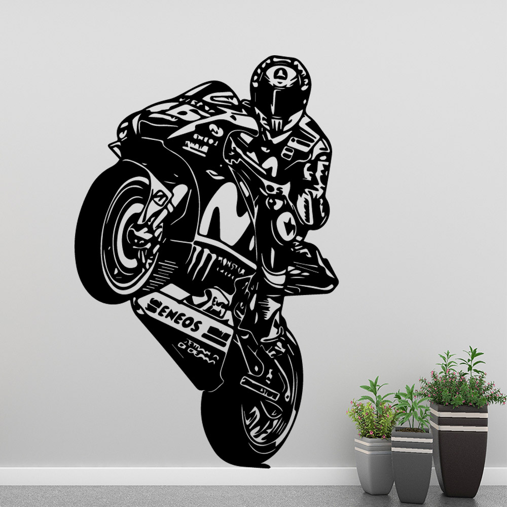 Beauty Motor Valentino Rossi Wall Sticker Wall Art Stickers Modern Wallsticker For Baby Kids Rooms Decor Home Decoration