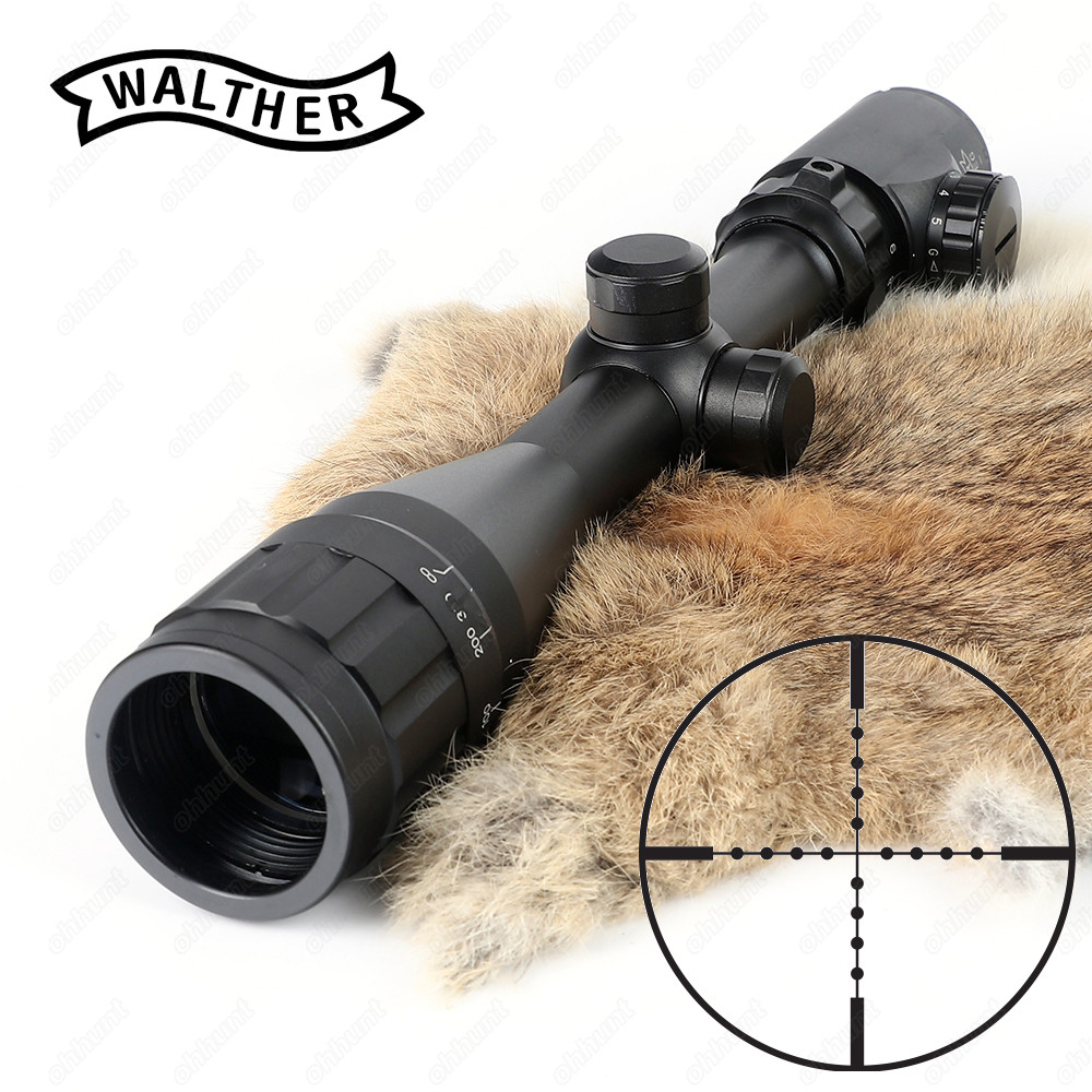 Tactical 3-9x40 AOEG Rifle Scope Mil Dot Reticle Red Green Illuminated Riflescope Hunting Optical Sight 4x 30mm red green mil dot reticle rifle scope with gun mount black 3 x ag13 1 x cr2032