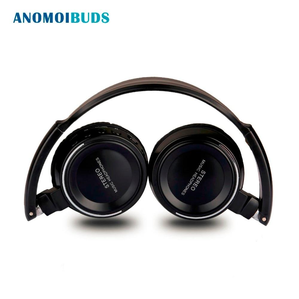 Anomoibuds Bluetooth Headphone Wireless Headphones Stereo Headset Handsfree Answer With Microphone TF Card Mp3 FM Radio For PC fasdga helmets headphones sport mp3 player wireless fm tf card black