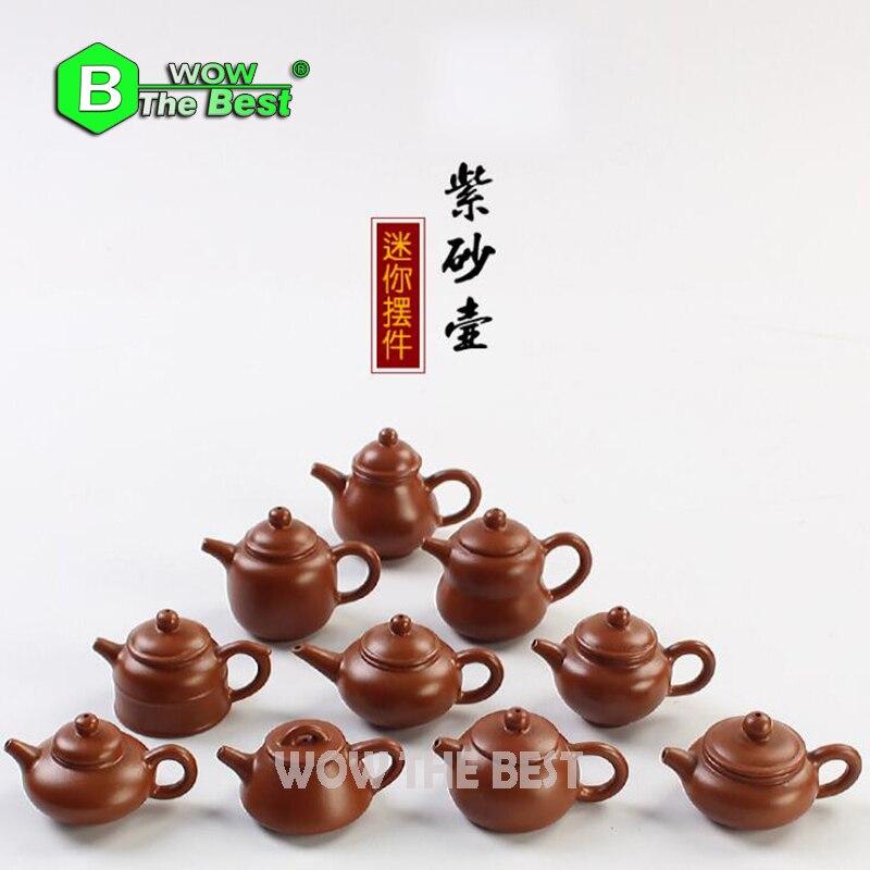 1piece Mini Çaydanlıq, Qədim Bənövşəyi Gil çaydanı Daş - Mətbəx, yemək otağı və barı - Fotoqrafiya 1