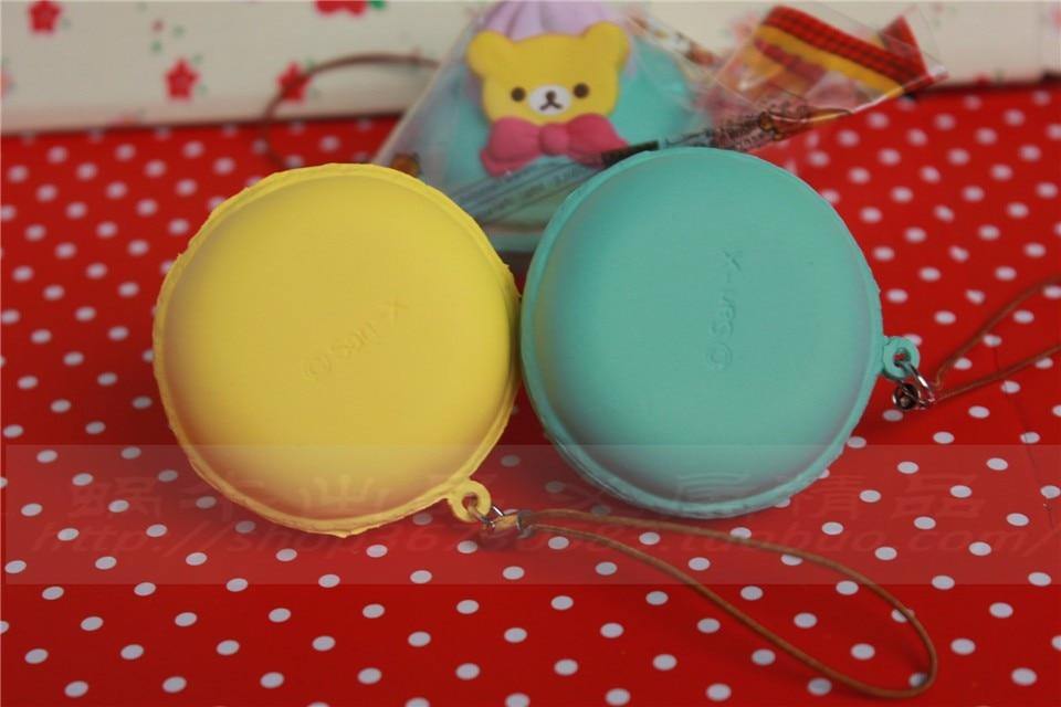 5 cm original kawaii squishy Rilakkuma Macaron kage queeze legetøj - Mobiltelefon tilbehør og reparation dele - Foto 6