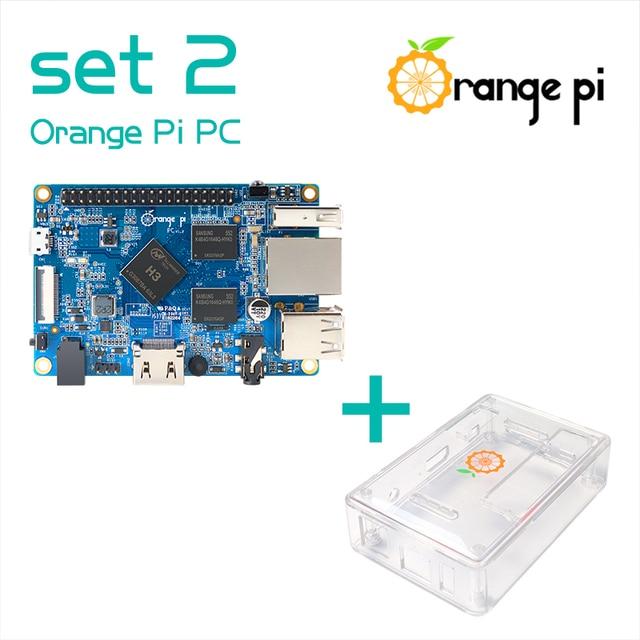 Oranje Pi Pc SET2: Oranje Pi Pc + Transparante Abs Case Ondersteund Android, Ubuntu, Debian