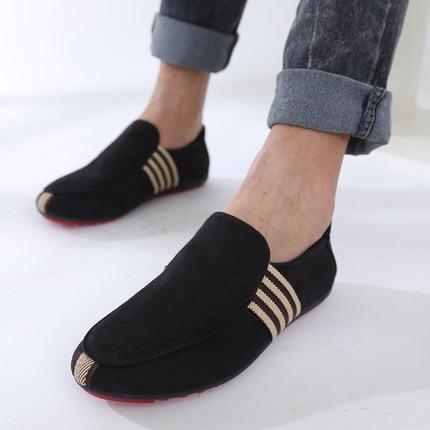 Antideslizante Lona Para Zapatos Casuales Masculino De Mocasín Rojo Hombres Caminar Conducción Sapato azul Planos Ventilación 18 Negro Mocasines P1RxUASnw