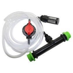 Agricultura venturi fertilizante injector kit com 1/2 Polegada a 3/4 Polegada fio de irrigação com efeito estufa montagem injetor ozônio 1 conjunto