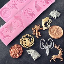Game of Thrones Family Badges silicone  Fondant Gum Paste Chocolate Craft Mold Resin Polymer Clay Metal Clay,candle,cake mold feet of clay