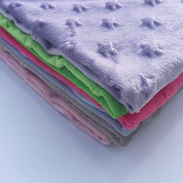 Любящее сердце пузырь Минки руно Ткань 1 м микро норки DIY Шить Одеяло игрушка Ткань