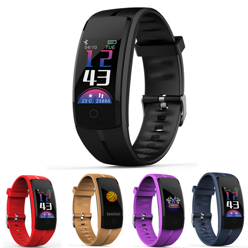 QS100 Blood Pressure Heart Rate Monitor GPS App Sport Tracker For Swimming Football Basketball Sportwatch PK Mi Band 3 Fitbit