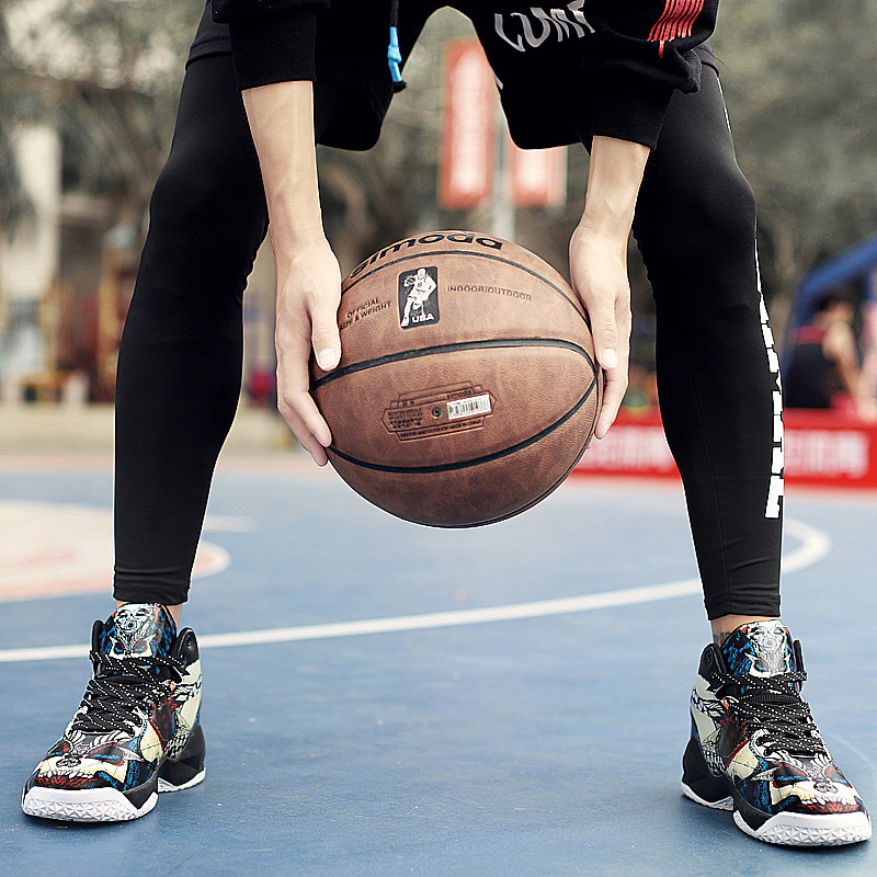Boy Outdoor Shoes Red Basketball Sneakers Male Pu Leather Sneakers Men High Top Brand Gym Shoes Designer Basketball Shoes Sport 16