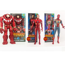 29 CENTÍMETROS Infinito Avengers Spider-Man Hulkbuster Superhero Guerra Homem De Ferro Tony Stark PVC Action Figure Collectible Modelo Toy d318(China)