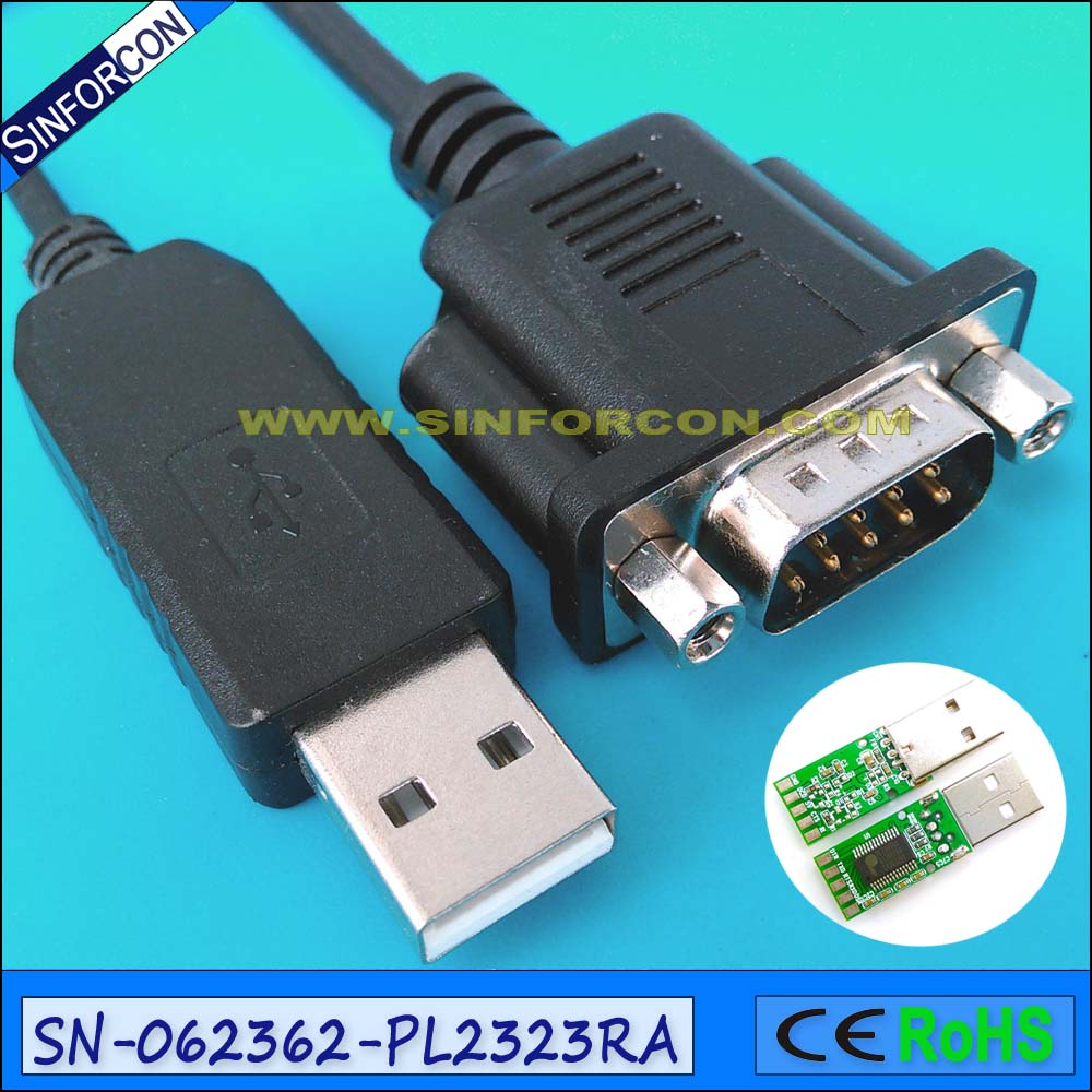 prolific pl2303ra usb rs232 serial db9 com port adapter cable 12x serial port connector rs232 dr9 9 pin adapter male