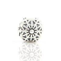 DIY Charm Bead Fit Gốc Pandora Vòng Tay Vòng Cổ 925 Sterling Silver Beads Snowflake Charms với Clear CZ Đồ Trang Sức Phụ Kiện